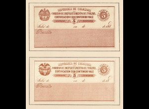 Columbia 1859-1908: nearly complete, Value letter-insurance-stamps, o/*