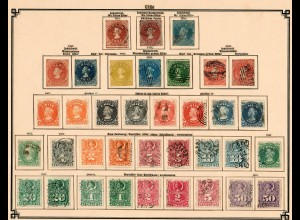 Chile 1853-1905: good colection incl. Porto- Telegraphen, Stempelmarken, o/*