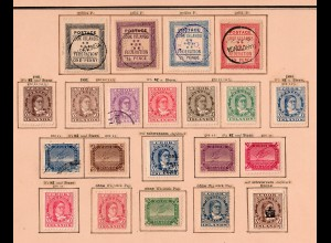 Cook Islands 1892-1902: complete stamp collection incl. #16, */o
