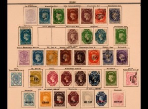 Ceylon 1855-1905: nearly complete collection incl. service stamps */o