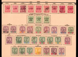 Malaysia states: Johor 1884-1904, nearly complete collection, */o