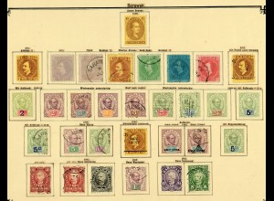 Malaysia states: Sarawak 1869-1902, obviously complete collection, */o