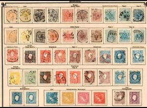 Österreich 1850-1910 überkomplette Sammlung spezialisiert mit allen Gebieten */o
