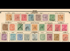 Bermuda 1865-1906: nearly complete stamp collection incl. rare #6-10 */o