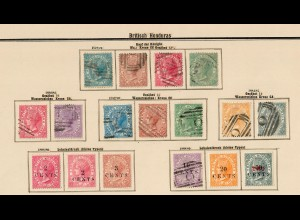 Belize: British Honduras 1872-1907, nearly complete collection */o