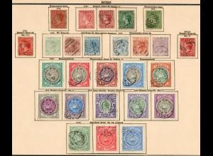 Antigua und Antigua Barbuda until 1906, nearly complete, Stempelmarke, */o