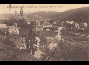 Ansichtskarte Grund bei Mohorn, Klein Tirol, Tharandter Wald 1920 nach Dresden