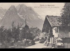Ansichtskarte 1918 Waxenstein, Garmisch, Festungslazarett von München