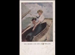 Ansichtskarte 1918: München nach Halbflottille - Marine Post