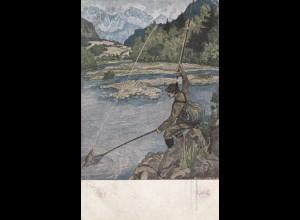 Ansichtskarte Fischer 1918: München nach Halbflottille - Marine Post, F176