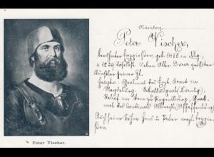 Ansichtskarte Peter Vischer, Nürnberg, ungebraucht