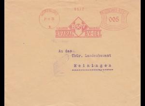 Freistempel 1929: Würzburg Aral Öl nach Meiningen