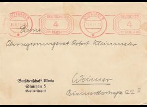 Freistempel 1934: Burschenschaft Ulmia von Stuttgart nach Weimar