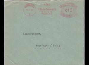 Freistempel 1930: Magdeburg Wilhelm Priem nach Meiningen