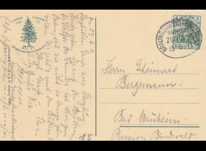 Ansichtskarte Romkerwasserfall Dresden, Bahnpost 1911 Braunschweig-Harzburg