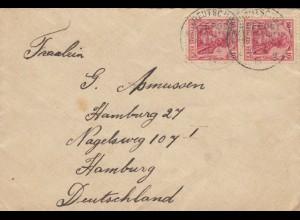 Australien: Deutsche Seepost 1913 nach Hamburg