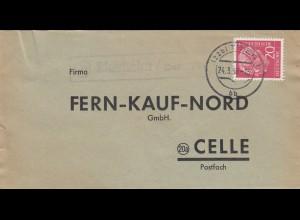 Brief 1959 von Idesheim über Trier nach Celle