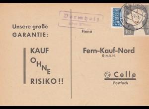 Brief 1953 von Dormholz über Witten nach Celle