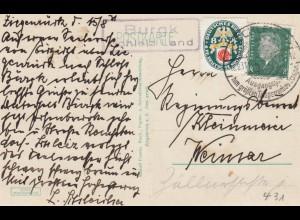 Ansichtskarte Ziegenrück/Saaletal von Burgk, Schleiz Land nach Weimar 1931