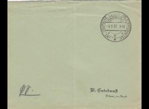 Blanko Kuvert 1937: Deutsche Tennismeisterschaften Hamburg
