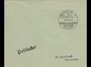 Blanko Kuvert 1937: 10. XI. Milchwirtschaftlicher Weltkongress, Berlin