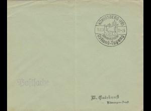 Postsache Kuvert 1937: Königsberg Philatelistische Ostland Tagung