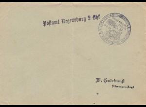 Postsache Kuvert 1937: Regensburg Gautreffen Bayerische Ostmark