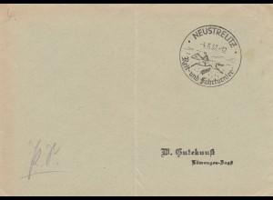 Postsache Kuvert 1937: Neustrelitz Reit- und Fahrturnier - Pferde, Reiten