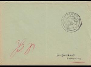 Postsache Kuvert 1937: Bad Gandersheim: Motor Wehr Sport Übung NSKK