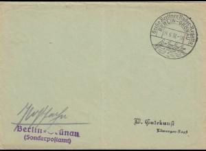 Postsache Kuvert 1938: Berlin-Grünau: Große Berliner Ruder Regatta