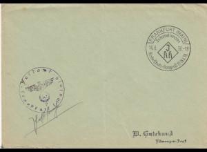Postsache Kuvert 1938: Frankfurt/Main Kinderschutz Kongreß