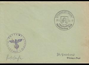 Postsache Kuvert 1938: Frankfurt/Main: 1. Großdeutscher Apothekertag