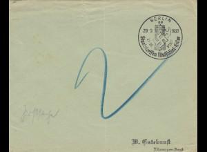 Postsache Kuvert 1937: Berlin Staatstreffen Mussolini-Hitler