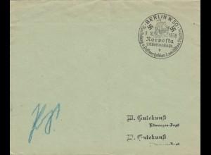 Postsache Kuvert 1938: Berlin Nodposta Postwertzeichen Ausstellung