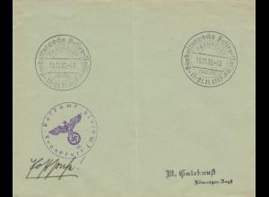 Postsache Kuvert 1937: Gaukulturwoche Hessen-Nassau, Frankfurt/Main