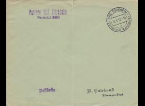 Postsache Kuvert 1937: Bad Dürkheim: Dürkheimer Wurstmarkt
