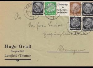 Brief aus Lengfeld/Themar nach Meiningen