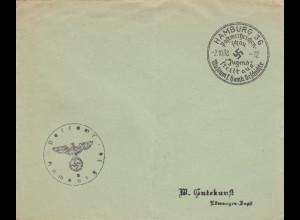 Postsache Kuvert 1938: Hamburg Postwertzeichen Schau-Jugend stellt aus: Museum