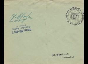 Postsache Kuvert 1938: München - und hihr habt doch gesiegt: November 1923/38