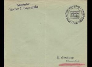 Postsache Kuvert 1938: München Briefschalter - und hihr habt doch gesiegt: November 1923/38
