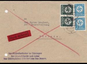 Eilboten Innenministerium an Bauverwaltung Schleiz 1940