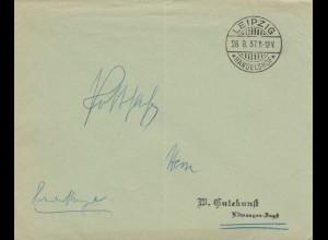 Postsache Kuvert 1937: Leipzig Handelshof