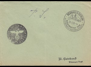 Postsache Kuvert 1938: Bernau bei Berlin, Hussitenfest