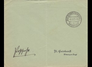 Postsache Kuvert 1937: Bad Doberan/Mecklenburg - Rennplatz
