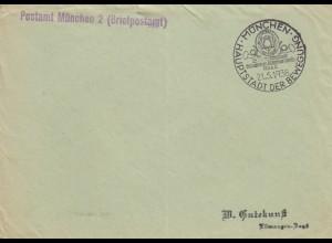 Postsache Kuvert 1938: München Ganzsachen Sammler Verein München, Sonderstempel