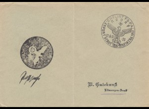 Postsache Kuvert 1937: Erfurt FbPA: Stadt-Kreistag