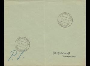 Postsache Kuvert 1937: Braunschweig, Messeplatz