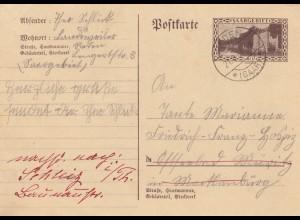 Postkarte 1934 Landweiler/Reden nach Offenbach Müritz