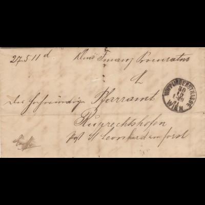 Brief 1891 aus Wien nach Ruprechtshofen/St. Leonhard mit Textinhalt