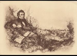Ansichtskarte Franz Schubert, Eckbug, 1928